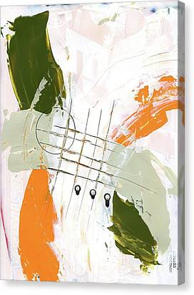 Canvas Print featuring the painting Three Color Palette Orange 3 by Michal Mitak Mahgerefteh