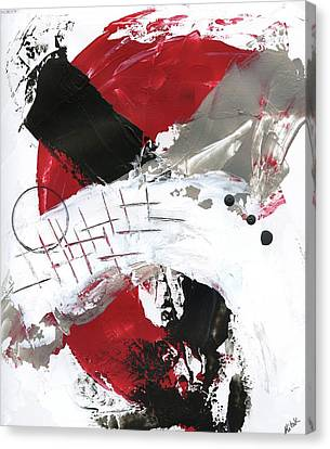 Canvas Print featuring the painting Three Color Palette Red 2 by Michal Mitak Mahgerefteh