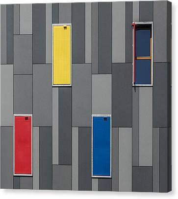 Three Colors And A Window Canvas Print by Jef Van Den