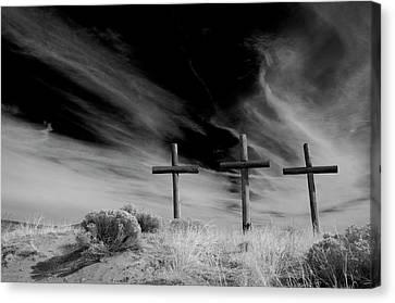 Three Crosses Canvas Print by Carolyn Dalessandro