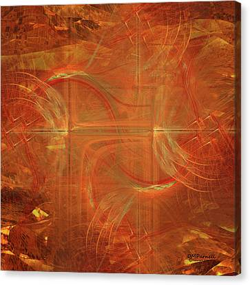 Three Crosses Canvas Print by Diane Parnell