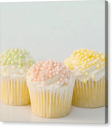 Three Cupcakes Canvas Print by Art Block Collections