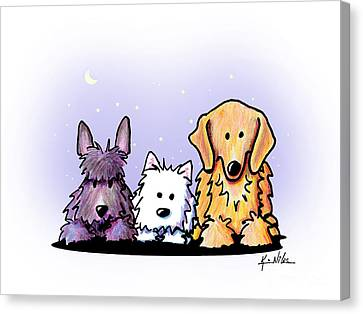 Three Dog Night Canvas Print by Kim Niles