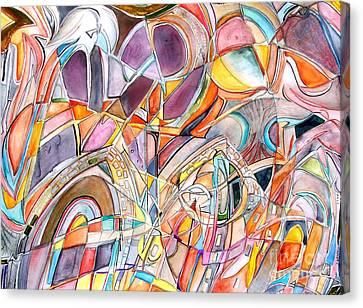 Three Doors Canvas Print by Ed Tajchman
