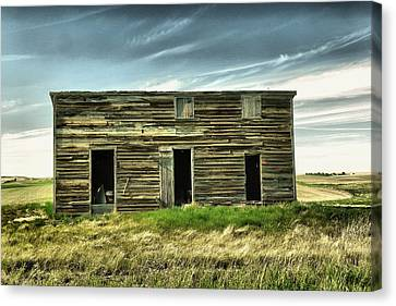 Three Doors On An Old Shed  Canvas Print