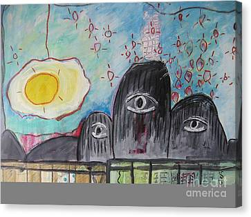 Three Eyes Canvas Print