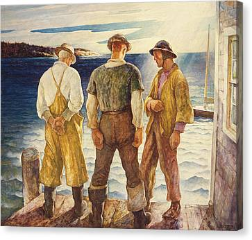 Three Fishermen Canvas Print by Newell Convers Wyeth