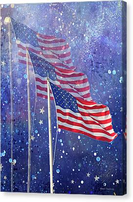 Three Flags Canvas Print by Rosalie Scanlon