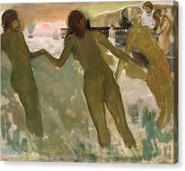 Degas Canvas Print - Three Girls Bathing by Edgar Degas