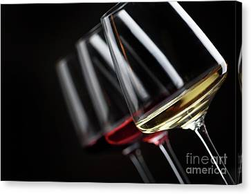 Three Glass Of Wine Canvas Print