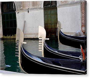 Canvas Print featuring the photograph Three Gondolas by Nancy Bradley