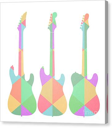 Three Guitars Triangles Canvas Print by Edward Fielding