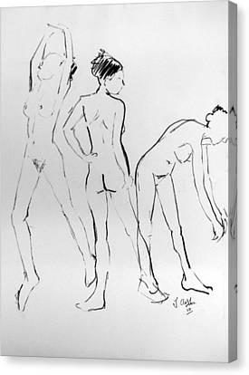 Three Hail Marys Canvas Print by Joanne Claxton