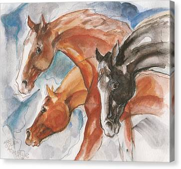 Three Horses Canvas Print by Mary Armstrong
