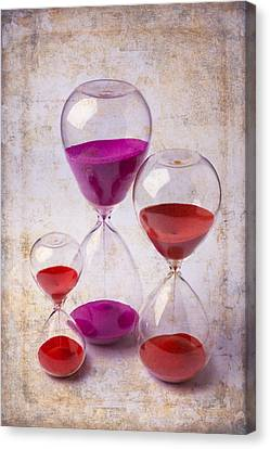 Three Hourglasses Canvas Print by Garry Gay