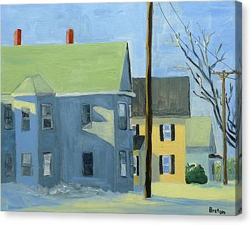 Three Houses Auburn Canvas Print by Laurie Breton