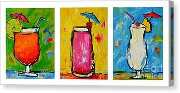 Three In A Row Happy Hour Time Canvas Print by Patricia Awapara