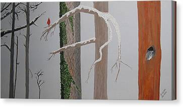 Three In The Trees Canvas Print