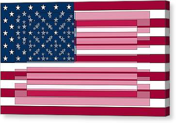 Three Layered Flag Canvas Print by David Bridburg