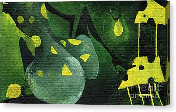 Three Lemons Canvas Print by Maya Manolova