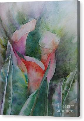 Three Lilies Canvas Print