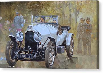 Three Litre Bentley At Kelmarsh  Canvas Print by Peter Miller