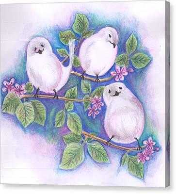 Canvas Print - Three Little Birds by Cherie Sexsmith