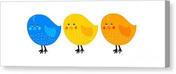 Three Little Birds Tee Canvas Print by Edward Fielding