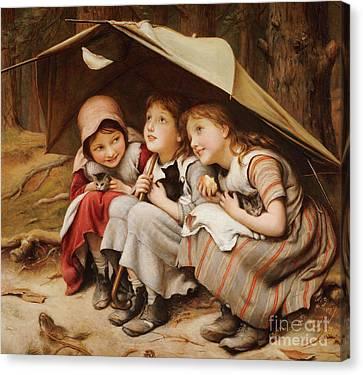 Three Little Kittens Canvas Print by Joseph Clark