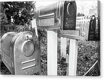 Three Mailboxes Canvas Print