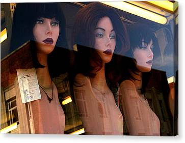 Three Mannequteers Canvas Print by Jez C Self