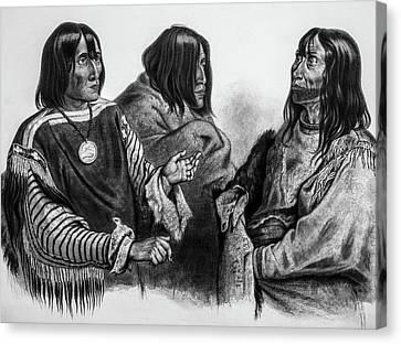 Three Native American Chiefs Canvas Print