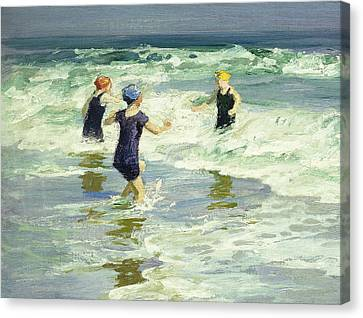 Three Of A Kind Canvas Print by Edward Henry Potthast