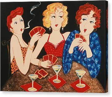Three Of A Kind Canvas Print by Susan Rinehart