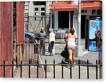 Canvas Print featuring the photograph Three On The Street by JoAnn Lense