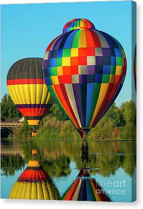 Three Over The River Canvas Print