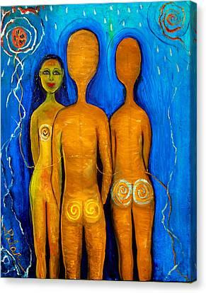 Three People Canvas Print by Pilar  Martinez-Byrne