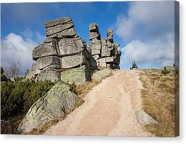 Three Piglets Rocks In Karkonosze Mountains Canvas Print