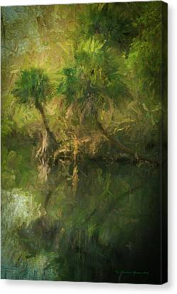 Three River Palms Canvas Print by Marvin Spates