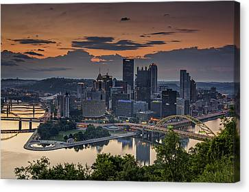 Three Rivers Sunrise Canvas Print by Rick Berk