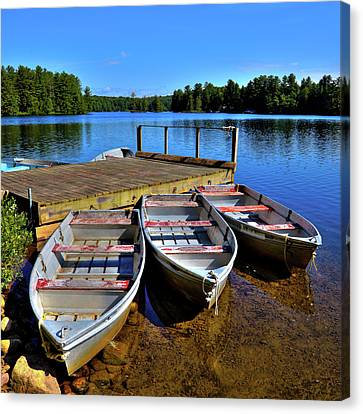 Three Rowboats Canvas Print by David Patterson
