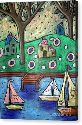 Three Sailboats Canvas Print by Karla Gerard