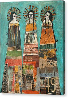 Three Saints Canvas Print by Jane Spakowsky