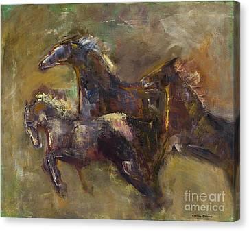 Three Set Free Canvas Print by Frances Marino