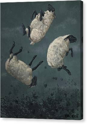 Three Sheeps To The Wind Canvas Print