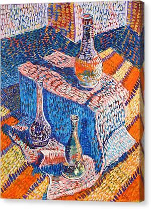 Three Simple Vases Canvas Print by Rollin Kocsis