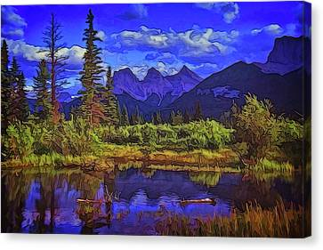 Three Sisters Peaks Canvas Print