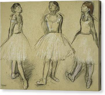 Three Studies Of A Dancer In Fourth Position Canvas Print