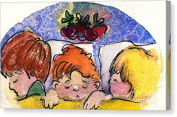 Three Sugar Plum Dreamers Canvas Print by Mindy Newman