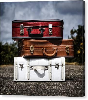Long Street Canvas Print - Three Suitcases by Joana Kruse